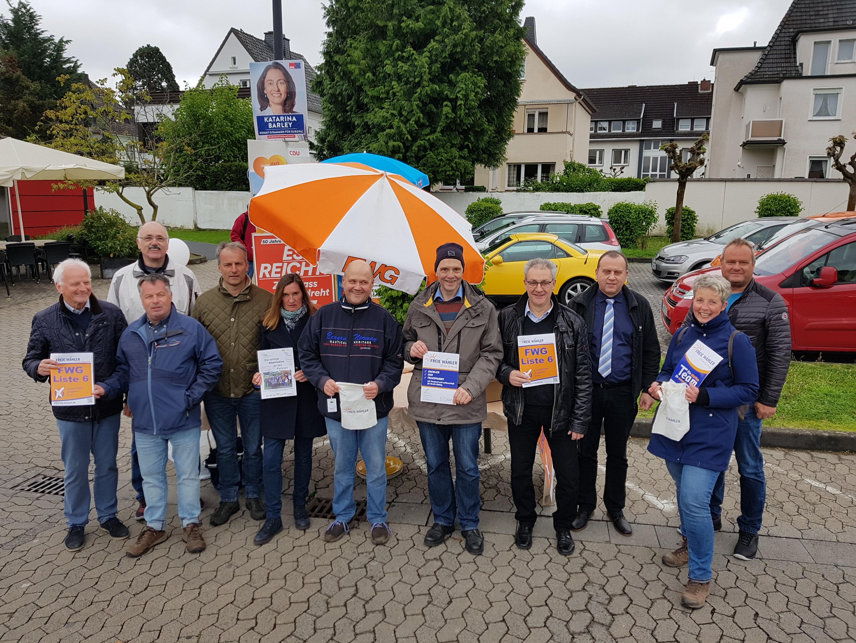 2. Informationsstand der FWG am 11.05.2019 ab 9:30 Uhr (Bad Breisig / Edeka)